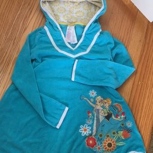 Disney Anna/Elsa terry cloth hooded cover up